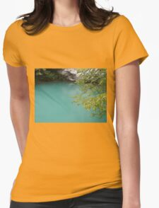 Mountain lake Womens Fitted T-Shirt