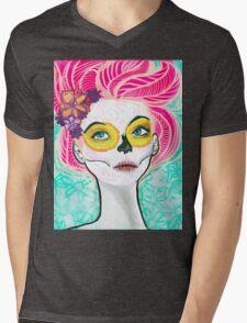 Dia De Los Pink Mens V-Neck T-Shirt