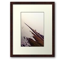 abstract winter river waterscape Framed Print
