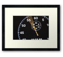 arrow running stopwatch Framed Print