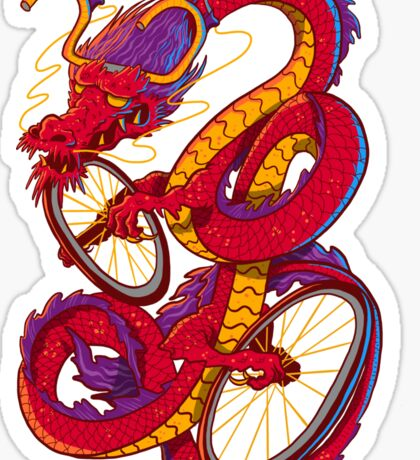Dragon Bike Sticker