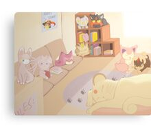 Pokemon Cat Cafe Canvas Print