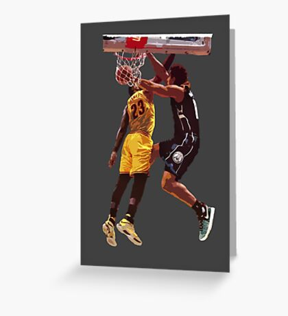 Malcolm Brogdon Dunk on LeBron James Greeting Card