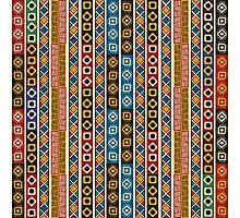 Tribal  Aztek pattern Photographic Print