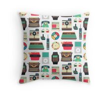 Retro Technology 2.0 Throw Pillow