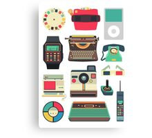 Retro Technology 2.0 Canvas Print