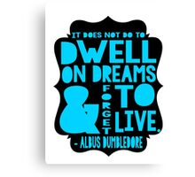 Albus Dumbledore Quote Typography Canvas Print
