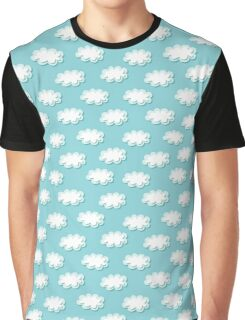 Simple clouds pattern. Seamless cute background. Kids wallpaper. Graphic T-Shirt
