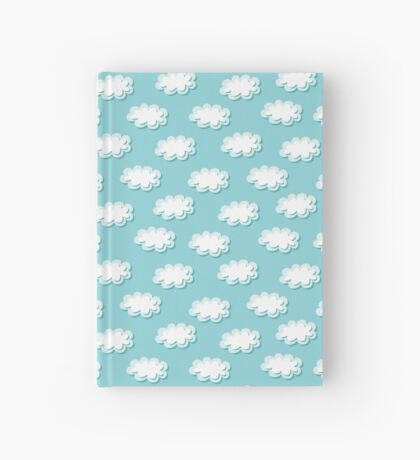Simple clouds pattern. Seamless cute background. Kids wallpaper. Hardcover Journal