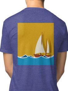 Sailing boat background Tri-blend T-Shirt