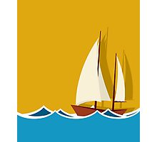 Sailing boat background Photographic Print