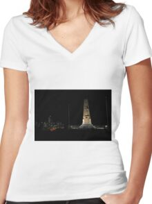 Lunar Eclipse - Perth, Western Australia Women's Fitted V-Neck T-Shirt