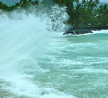 Hurricane Ana Strikes Kona by Randy Richards