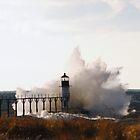 St Joseph North Pier Lighthouse - 5 by Debbie Mueller