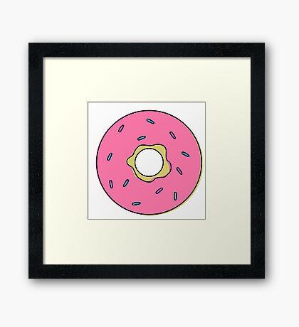Cartoon Donut Framed Print