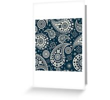 Clover seamless paisley pattern Greeting Card