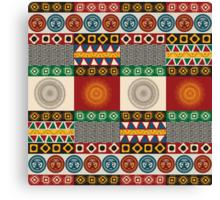 Seamless mayan, aztec pattern Canvas Print