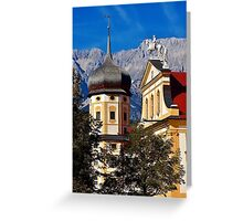 The abbey of Stams in Tyrol Austria Greeting Card