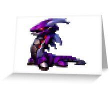 8bit Robot dragon Greeting Card