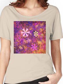 Pink Flower Garden Women's Relaxed Fit T-Shirt