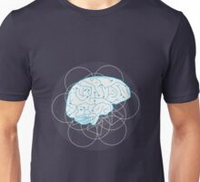 Human brain illustration. Tribal with atom sign Unisex T-Shirt