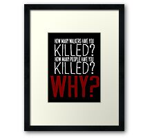 The Walking Dead Killer Questions Framed Print