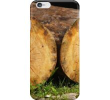 cracked felled trees iPhone Case/Skin