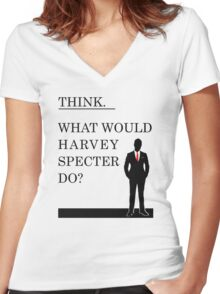 What would Harvey Specter do? #WWHD - T-Shirt / Phone case / Mug / More 2 Women's Fitted V-Neck T-Shirt