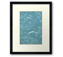 water background Framed Print