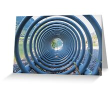 abstract landscape lake trought a rack Greeting Card