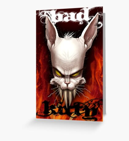 Evil The Cat - Bad Kitty Greeting Card