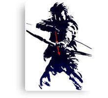 blue arrow Canvas Print