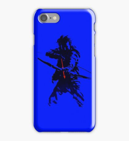 blue arrow iPhone Case/Skin