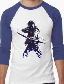 blue arrow Men's Baseball ¾ T-Shirt