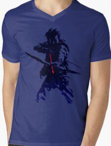 blue arrow Mens V-Neck T-Shirt