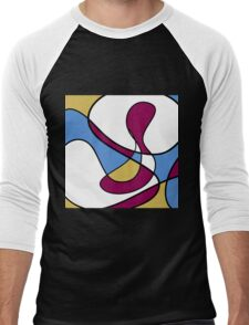 Abstract Lines Men's Baseball ¾ T-Shirt
