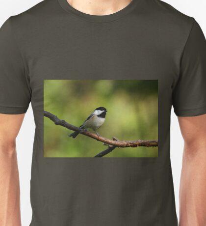 Black Capped Chickadee Unisex T-Shirt
