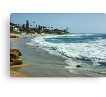 Wipeout Beach in La Jolla California Canvas Print