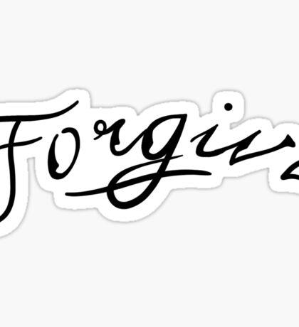Forgive Tattoo Sticker
