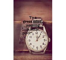 Sherlock Great mind Photographic Print