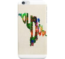 Moldova Typographic Watercolor Map iPhone Case/Skin