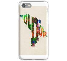 Moldova Typographic Watercolor Map iPhone Case/Skin