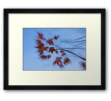 Abstract Impressions of Fall - Autumn Wind Melody Framed Print