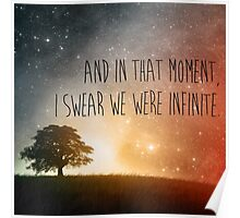 In that moment, I swear we were infinite Poster