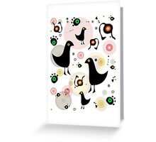 BlackBirds and Fullbelly Snakes Greeting Card