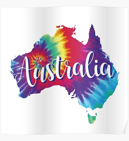 Australia Tie Dye Australia Poster