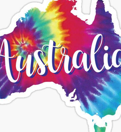 Australia Tie Dye Australia Sticker