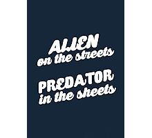 Alien and Predator - Streets & Sheets Photographic Print