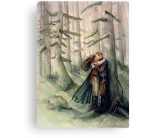 Snow and Charming Canvas Print