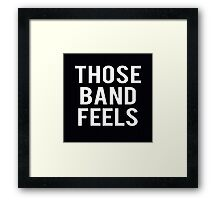 Bands. Framed Print